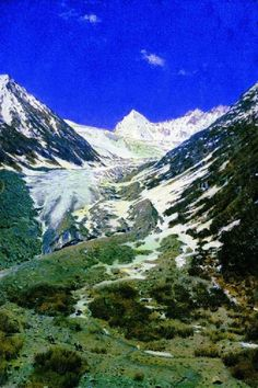 Glacier on the way from Kashmir to Ladakh 1875 Paintings | Vasily Vereshchagin paintings
