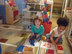Montessori Children Working