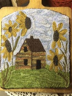 Image result for Sunflower Punch Needle Pattern