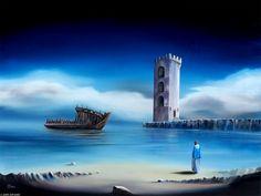 "Of Lost Souls II - David Fedeli 20""x28"" Oil on Canvas"