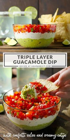 Recipes Appetizers And Snacks, Healthy Soup Recipes, Appetizer Dips, Dip Recipes, Mexican Food Recipes, Snack Recipes, Guacamole Salsa, Guacamole Recipe, Pesto