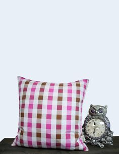 3 Types Pattern # Check & Dot Cotton Cushion Cover (Custom Cushion, Decorative Pillows, Pillow Case, Personalized cushion, Made in Canada) by MysGreenCom on Etsy