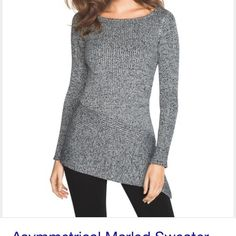 ⭐️Asymetrical Tunic⭐️ This is a gray and silver blend. They tend to run bigger due to the stretchy fabric. Leggings look amazing with it! This is a great look without being over the top! White House Black Market Tops Tunics