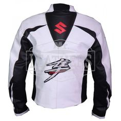 Suzuki Hayabusa White Leather Jacket