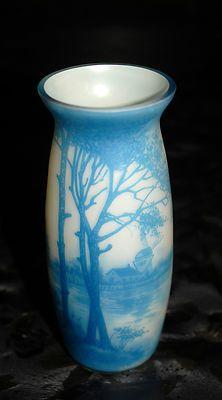 Very RARE Val St Lambert Blue Cameo Glass Vase Leon Ledru Lucien Petignot   eBay