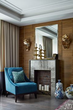 New ideas to your interior decoration for Best Interior, Modern Interior Design, Classic Fireplace, Classic Ceiling, Classic Living Room, Contemporary Floor Lamps, Apartment Design, Home Decor Inspiration, Decoration