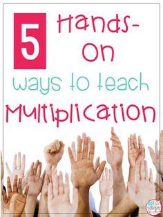 Diary of a Not So Wimpy Teacher: 5 Hands-On Ways to Teach Multiplication