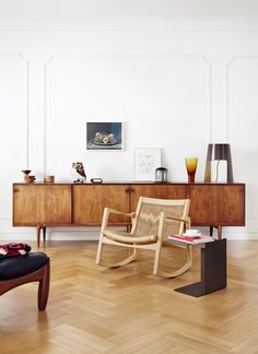 """Rocking chair """"Euvira"""" designed by Jader Almeida for Classicon"""