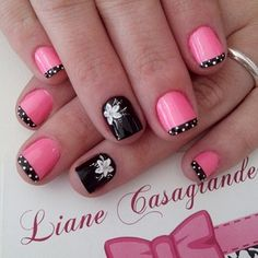 lianecds Love Nails, Pink Nails, My Nails, Beauty Tips, Beauty Hacks, Short Nail Designs, Manicure Ideas, Short Nails, Nail Arts