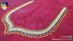 Aari Embroidery, Embroidery Works, Hand Embroidery Patterns, Embroidery Designs, Kurti Neck Designs, Saree Blouse Designs, Pink Saree Blouse, Aari Work Blouse, Maggam Work Designs