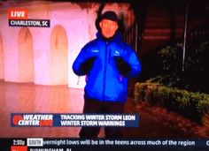 Jim Cantore knees college kid in the groin