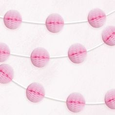 Pale Pink Honeycomb Garland - Garlands - Decorations - Party Supplies