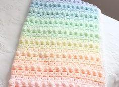 Rainbow Popcorn! Our first Crochet Pattern!
