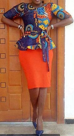 Hello Ladies, we have waited long for these amazing plain and patterned ankara styles. Plain and Patterned ankara styles are designed uniquely and flawlessly. African Inspired Fashion, African Dresses For Women, African Print Dresses, African Print Fashion, Africa Fashion, African Attire, African Wear, African Fashion Dresses, African Women