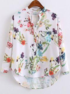 Camisa Colcci Floral Manga 7/8 - Colcci