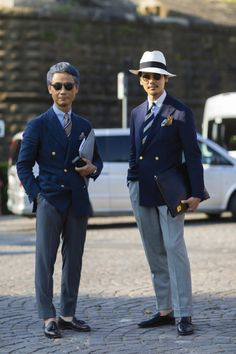 Hein Fienbrot — Tatsuya Nakamura and Shuhei Nishiguchi. Der Gentleman, Gentleman Style, Mode Masculine, Sharp Dressed Man, Well Dressed Men, Mens Fashion Suits, Mens Suits, Mens Evening Wear, Smart Casual Menswear