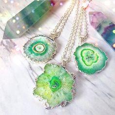 Fluorite wands & Quartz Stalactite necklaces