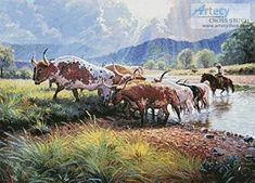 Somewhere West of Here - cross stitch pattern designed by Tereena Clarke. Category: Animals.