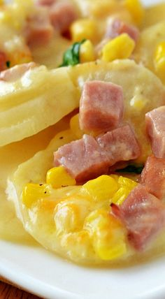 Scalloped Potatoes, Ham & Corn Bake