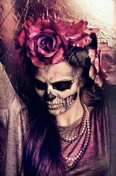 Skull dia del muerte