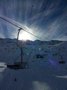 Skiing season has started in Andermatt! The Gurschen glacier at Gemmstock - Switzerland