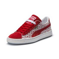 free shipping 3acca 5bb48 PUMA x HELLO KITTY Kids  Suede Tortas, Zapatos, Gatito, Bolso De Hello