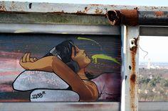 Chillin Lady #streetart #graffiti #stencil #berlin #moe79