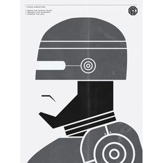 Alternative Movie Poster for Robocop by Brandon Schaefer