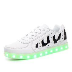 Zapatos LED Llamas Adultos Blanco