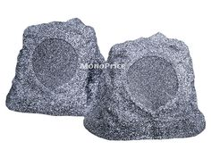 $60 6-1/2 Inches 2-Way Coaxial Waterproof Rock Speakers (Pair) - 40W Nominal, 80W Max - Monoprice.com
