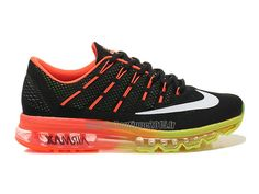 pretty nice 16cb1 8dd99 Officiel Nike Air Max 2016 Chaussures Nike Running Pas Cher Pour Homme Noir/Orange/Jaune/Blanc  764892-ID07