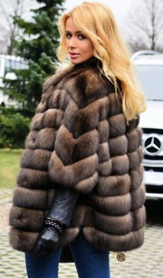 RUSSIAN SABLE FUR COAT -  LONG VEST