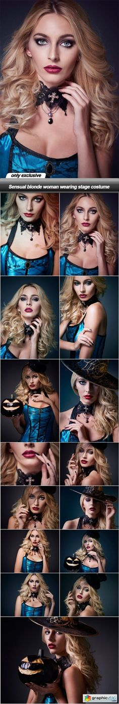 Sensual blonde woman wearing stage costume  15 UHQ JPEG  stock images