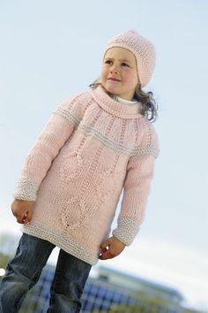 1011: Modell 14B Genser og lue #strikk #knit #fjells Knit Crochet, Turtle Neck, Pullover, Knitting, Sweaters, Kids, Crocheting, Fashion, Threading