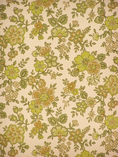 Green Floral Wallpaper Vintage Wallpapers Paper Light Textile Printing