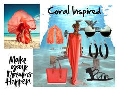 """Coral inspired"" by tamberlyr ❤ liked on Polyvore featuring Revo, STELLA McCARTNEY and Michael Kors"