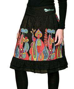Take a look at this Black & Red Graphic Skirt - Women by Desigual on #zulily today!