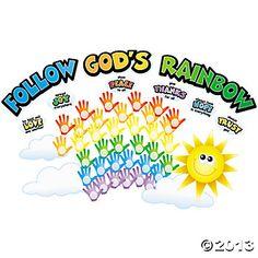 Hand Print Colors of Faith Bulletin Board Cutouts - Oriental Trading