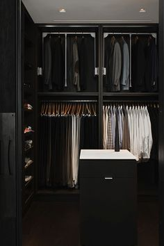 ♂ Gentleman's closet Dark interior. Good organization