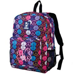 Monogram Backpack and Lunch Bag Set - Wildkin - Personalized - Peace Signs - Back to School Crackerjack by DesignsbyDaffy on Etsy