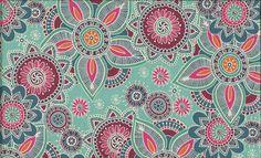 1191/T HENNA - henley studio makower uk - a bit full on for the blind but lovely print