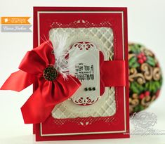 Card Making Ideas by Amazingpapergrace.com using Waltzingmouse Opera Tags Christmas and Spellbinders Fancy Lattice, Spellbinders Nobel Rectangles, Spellbinders Labels Fourteen, Spellbinders Standard Circles LG,