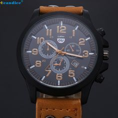 >> Click to Buy << Splendid Relogio Masculino Vintage Classic Mens hours Clock time Waterproof Date Leather Strap Sport Quartz Army Watch Wrist #Affiliate
