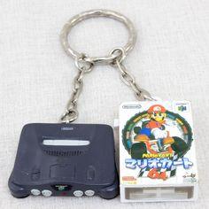 Nintendo  Miniature Figure Key Chain Nintendo 64 & Mario Kart 64 JAPAN GAME
