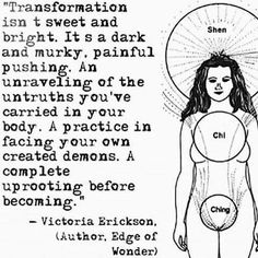 Victoria Erickson Transformation. Unraveling of the untruths you've carried inside your body