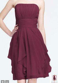 f4a53505e2 Bridesmaid Dress David s Bridal - Strapless Chiffon Dress with Layered  Skirt Style in Pedal My bridesmaids dress