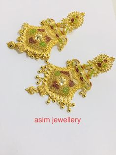 Gold Ring Designs, Gold Earrings Designs, Gold Jewelry Simple, Simple Necklace, Gold Bangles, Bangle Bracelets, Bridal Necklace, Gold Necklace, 1 Gram Gold Jewellery