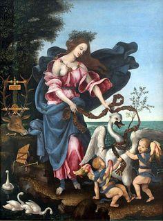 Filippino Lippi - Allegoria della Musica (o Erato) - 1500 circa - Berlino, Staatliche Museen