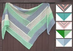 Knitting Patterns Scarves Crochet Pattern Triangular Scarf 'Jack of all trades' All-rounder is made in Filethäkeltechnik from top to … Crochet Wool, Crochet Scarves, Crochet Shawl, Crochet Clothes, Shawl Patterns, Baby Knitting Patterns, Crochet Patterns, Circular Knitting Machine, Crochet Triangle Scarf
