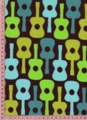 Tissu Guitares